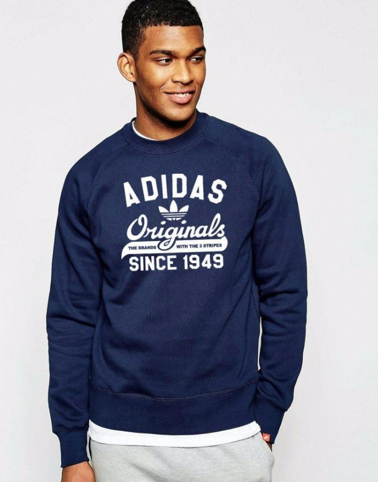 902256acdbc2 Мужская спортивная кофта (спортивный свитшот) Adidas, Адидас, темно-синяя  (в стиле) - ...