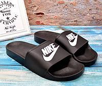 ✅ Шлепанцы мужские Nike найк черные шлепки сланцы