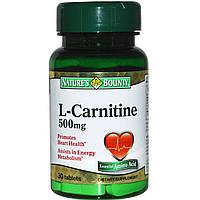 L-карнитин тартрат Nature's Bounty 30 таблеток