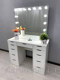 Стол с лампами для макияжа V446