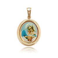 Кулон Божья Матерь, Богоро́дица ХР GOLD FILLED 18K. Эмаль. Размер 33 х 20 мм.