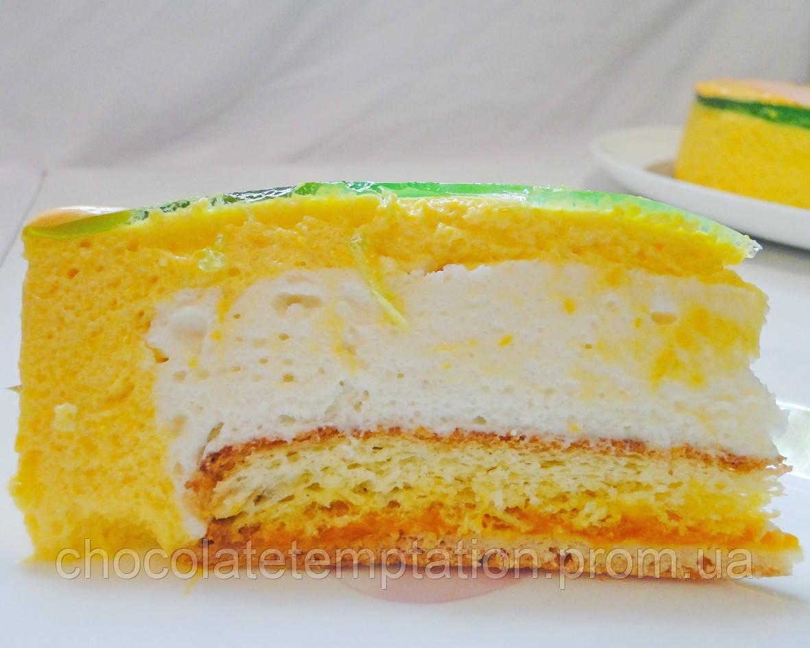 Торт Манго-мятный мусс