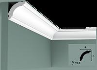 Карниз(плинтус) потолочный гладкий Orac Decor Basixx CB510N, лепной декор из пенопласта