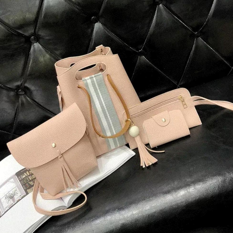 5c6c6aea8579 Женская сумка 4в1, экокожа PU (розовый) - купить по лучшей цене в ...