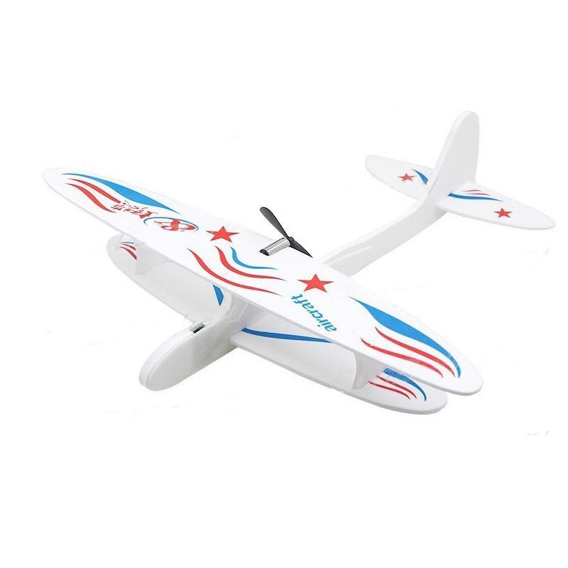 Летающая модель самолета со светом 0001