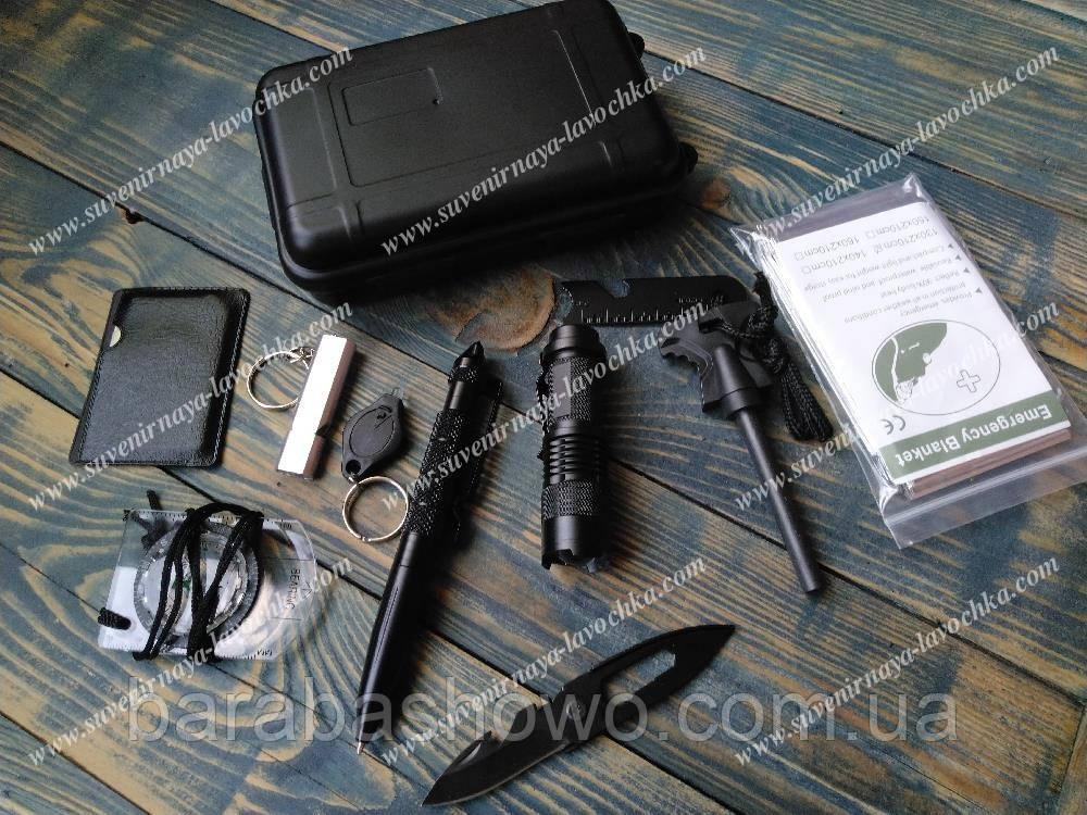 Набор для выживания 9 в 1 Survival kit