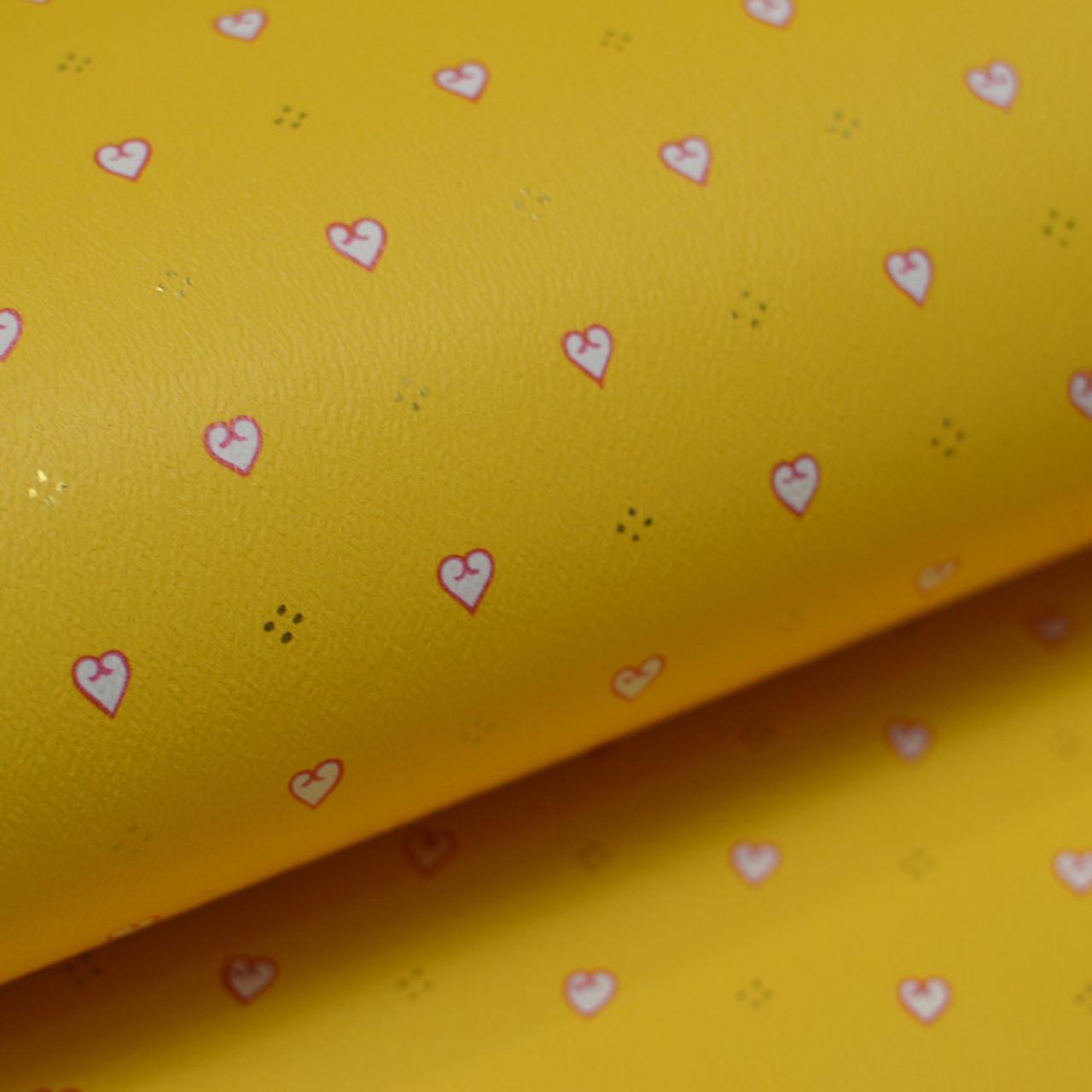 Обои для стен дитячі детские шпалери жовті сердечки в дитячу паперові  0,53*10м,, ограниченное количество