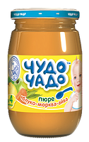 """Пюре Чудо-чадо из яблок, моркови и айвы с сахаром и витамином С (""""Румяные щечки"""") с 3 месяцев, 170мл"""
