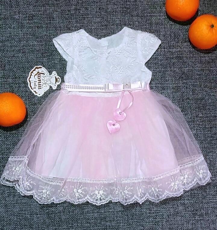 Нарядное платье для девочки Турция  р. 9 (идет на 3-6 мес.)