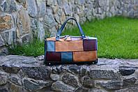 Спортивная кожаная сумка, Круглая дорожная сумка, фото 1