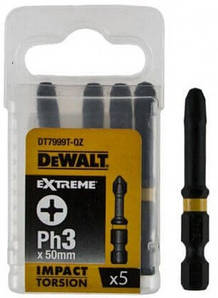 Биты ударные Dewalt Impact Torsion Extreme Ph3, 50мм, 5шт