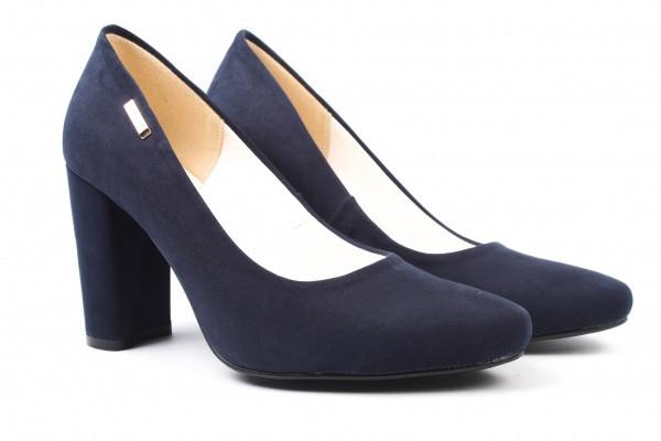 Туфли на каблуке Zan Zara эко замш, цвет синий (38р.)