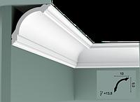 Карниз(плинтус) потолочный гладкий Orac Decor Basixx CB512N, лепной декор из пенопласта