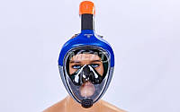 Маска для снорклинга с дыханием через нос M501L-BL. (р-р S-M), фото 1