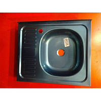 """Мойка кухонная """"Asil"""" накладная 60 х 50 (0,4 мм) левосторонняя либо правосторонняя"""