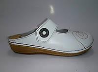 Женские летние кожаные сабо на липучке ТМ Inblu, фото 1