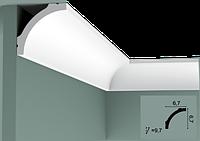 Карниз(плинтус) потолочный гладкий Orac Decor Basixx CB522N, лепной декор из пенопласта