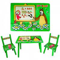 Детский комплект столик с двумя стульчиками Маша и Медведь