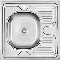 """Мойка кухонная """"Asil"""" накладная 60 х 60 (0,4 мм) левосторонняя либо правосторонняя"""