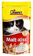 Витамины для котов и кошек Gimpet Malt-Kiss для выведение шерсти, 40г