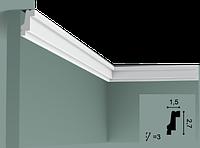Карниз(плинтус) потолочный гладкий Orac Decor Basixx CB530N, лепной декор из пенопласта