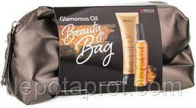 Подарочный набор косметики для волос  в косметичке Indola Innova Glamorous Oil