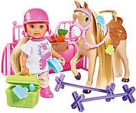 Игровой набор кукла Эви Холидей Конюшня с лошадкой и аксессуарами Еви Simba 5733274, фото 1