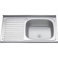 """Мойка кухонная """"Asil"""" накладная 80 х 50 (0,4 мм) левосторонняя либо правосторонняя"""