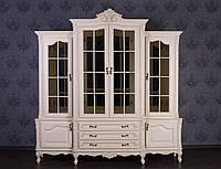 """Шкаф в гостиную из натурального дерева """"Регина"""", в классическом стиле от производителя, сервант"""