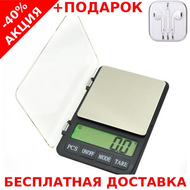 Весы карманные ювелирные MH999 (3000/0,1) digital pocket jewelry scales 3000g 0.1g + наушники iPhone 3.5
