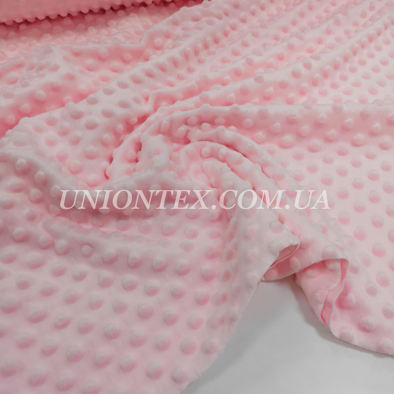 Ткань плюш Minky Dots пупырышки розовый