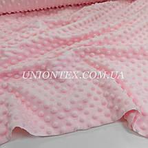 Ткань плюш Minky Dots пупырышки розовый, фото 3