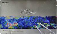 """Карандаши Цветные """"Raffine"""" 36 цветов в металлической упаковке 7100-36TN  Marco"""