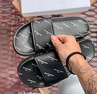 Balenciaga Slides Black | сланцы мужские и женские (шлепки/шлепанцы); черные