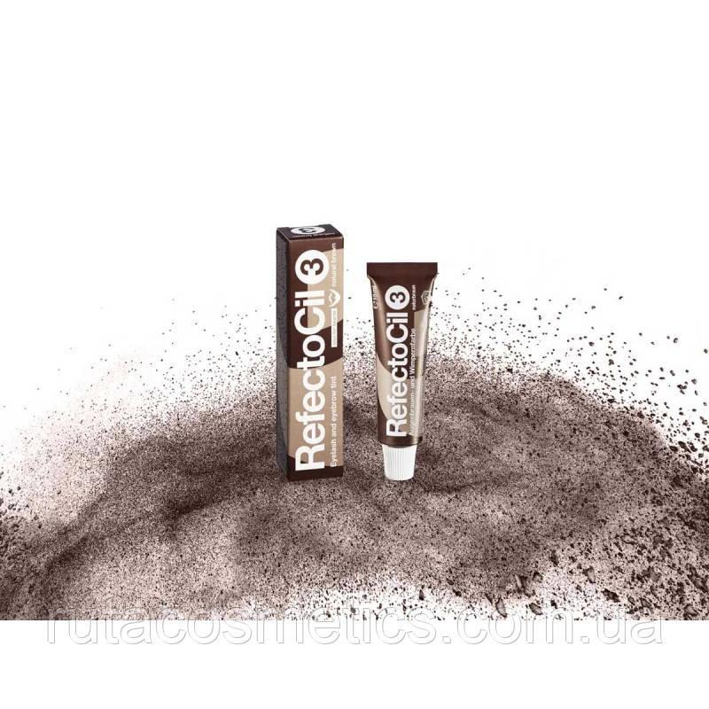"""RefectoCil №3 """"natural brown"""" Краска для бровей и ресниц [натурально-коричневый]"""