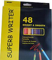 "Карандаши Цветные 48 цветов. ""Superb Writer"" 4100-48  Marco"