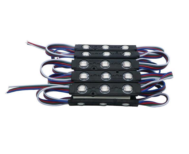 Светодиодный модуль RGB 3LED SMD5050 IP65 с линзой