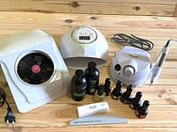 Набор для маникюра гель-лаком Lilly с фрезером ZS-601, лампой для маникюра  F6 и вытяжкой для маникюра