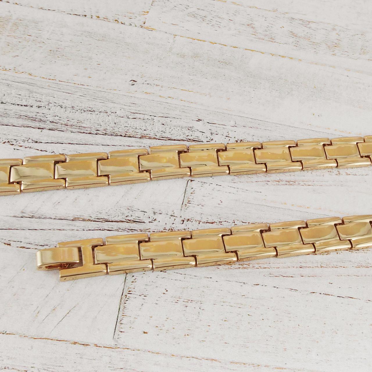 Браслет Xuping Jewelry 19 см х 10,5 мм Браслетное плетение, медицинское золото, позолота 18К. А/В 3331