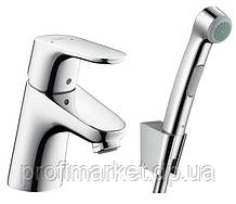 Смеситель для умывальника с гигиеническим душем Hansgrohe Focus 31926