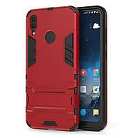 Бронированный противоударный чехол Stand для Huawei Y7 (2019) / Y7 Prime (2019) Dante Red