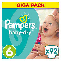 Подгузники Pampers Active Baby-Dry Maxi Plus 6 (13-18 кг) Mega Pack,92 шт