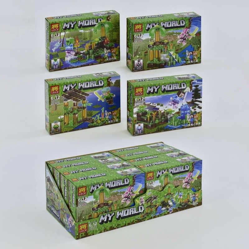 Конструктор Minecraft Lele My World 33177, 60+ елементів, 4 види, в коробці