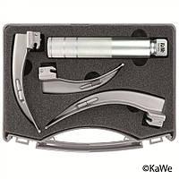 Ларингоскопический набор, для взрослых, 1 рукоятка + 3 клинка макинтош KaWe