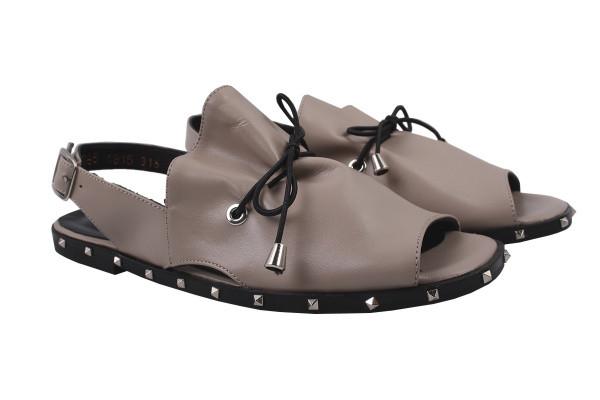 Босоніжки , сандалі жіночі на плоскій підошві Molly Bessa натуральна шкіра, колір капучіно