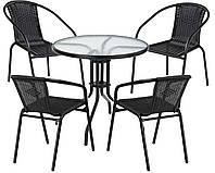 Набор садовой мебели Bari балкон стол +4 стула Польша