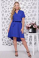 Платье асимметричное нарядное от 48р. (в расцветках)