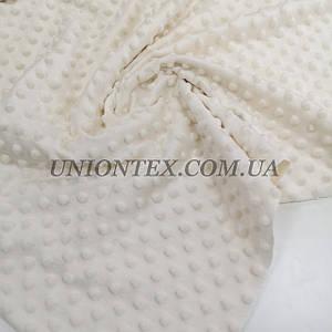Ткань плюш Minky Dots пупырышки молочный