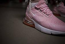 Женские кроссовки Nike 270 White Light Pink ( Реплика ) Остался 36 размер, фото 3