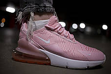 Женские кроссовки Nike 270 White Light Pink ( Реплика ) Остался 36 размер, фото 2